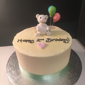 Teddy and Balloon Buttercream Cake